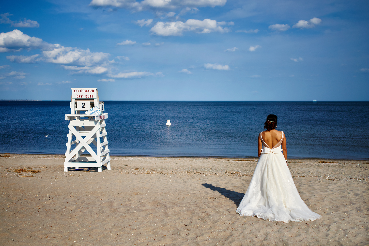 Wedding Party and Bride & Groom Portraits at Fairfield Beach, ConnecticuT - Wedding Photography BY CATE