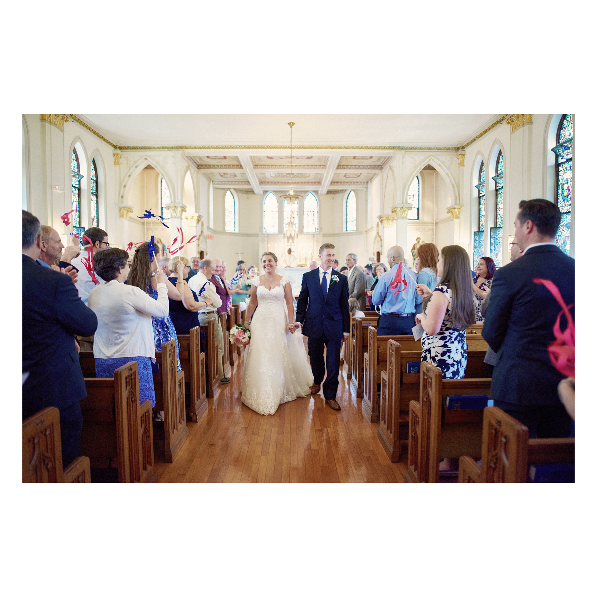 Spring Wedding at a Private School in Connecticut