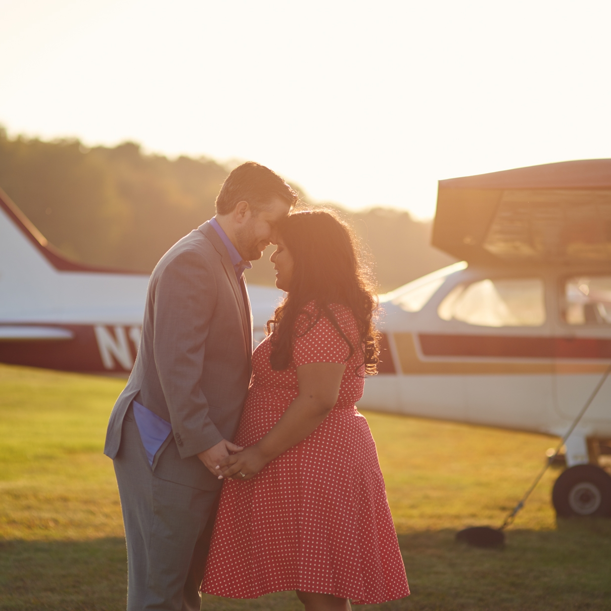 Julia and Russell's Fall engagement session on Plum Island, Plum Island Airport and the beach in Newburyport, MA
