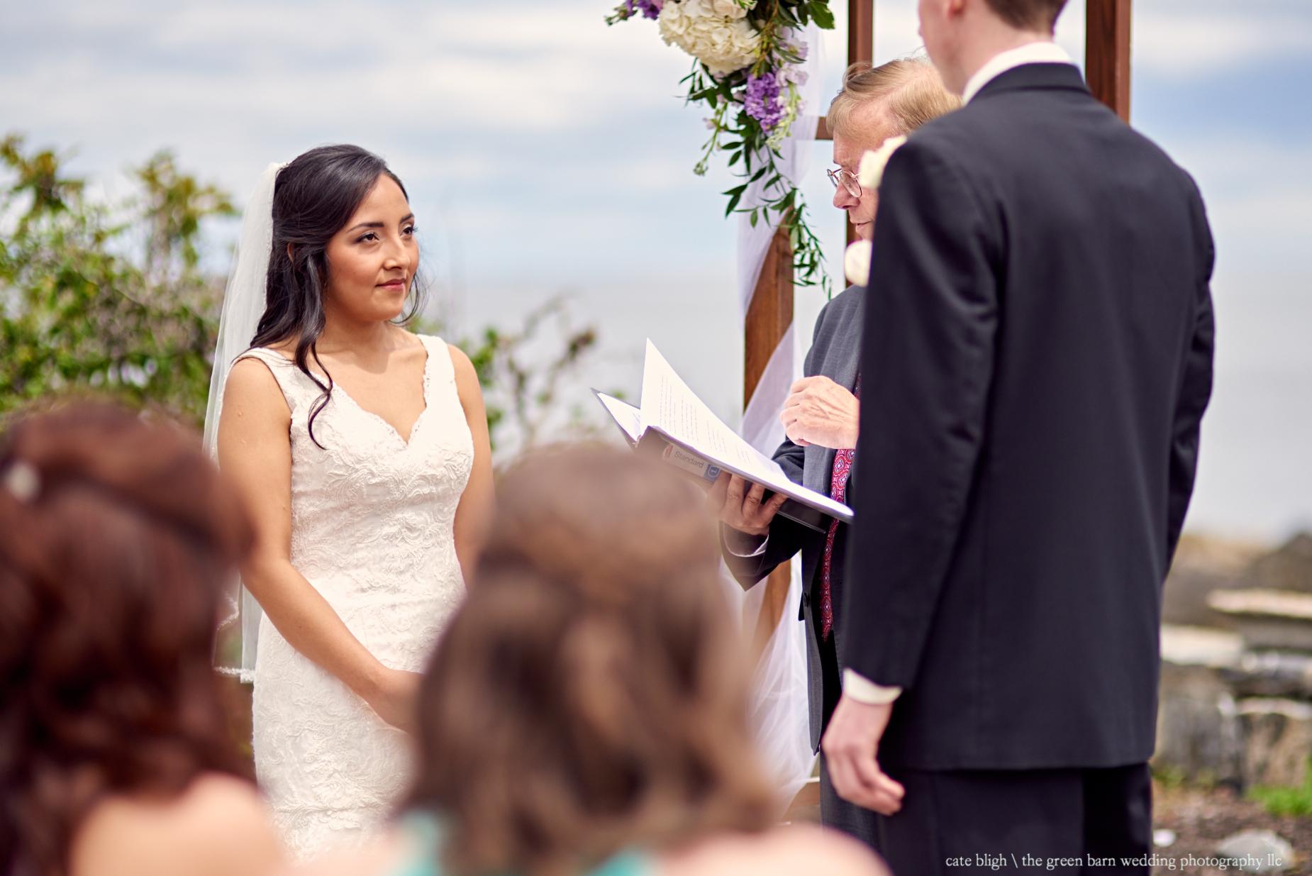 Wedding ceremony photos in Cape Elizabeth Maine