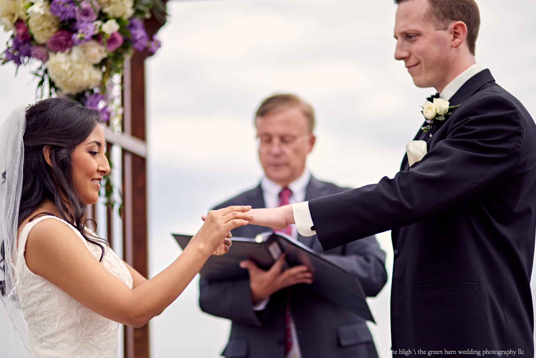Dream Maine coast wedding ceremony at Cape Elizabeth