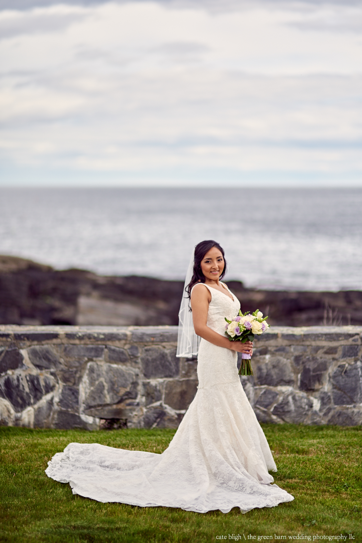 Stunning bridal portrait at Cape Elizabeth, ME