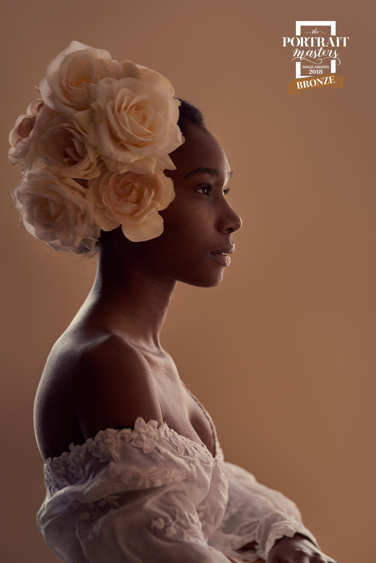 Stunning and creative bridal portrait by The Green Barn Wedding Photography