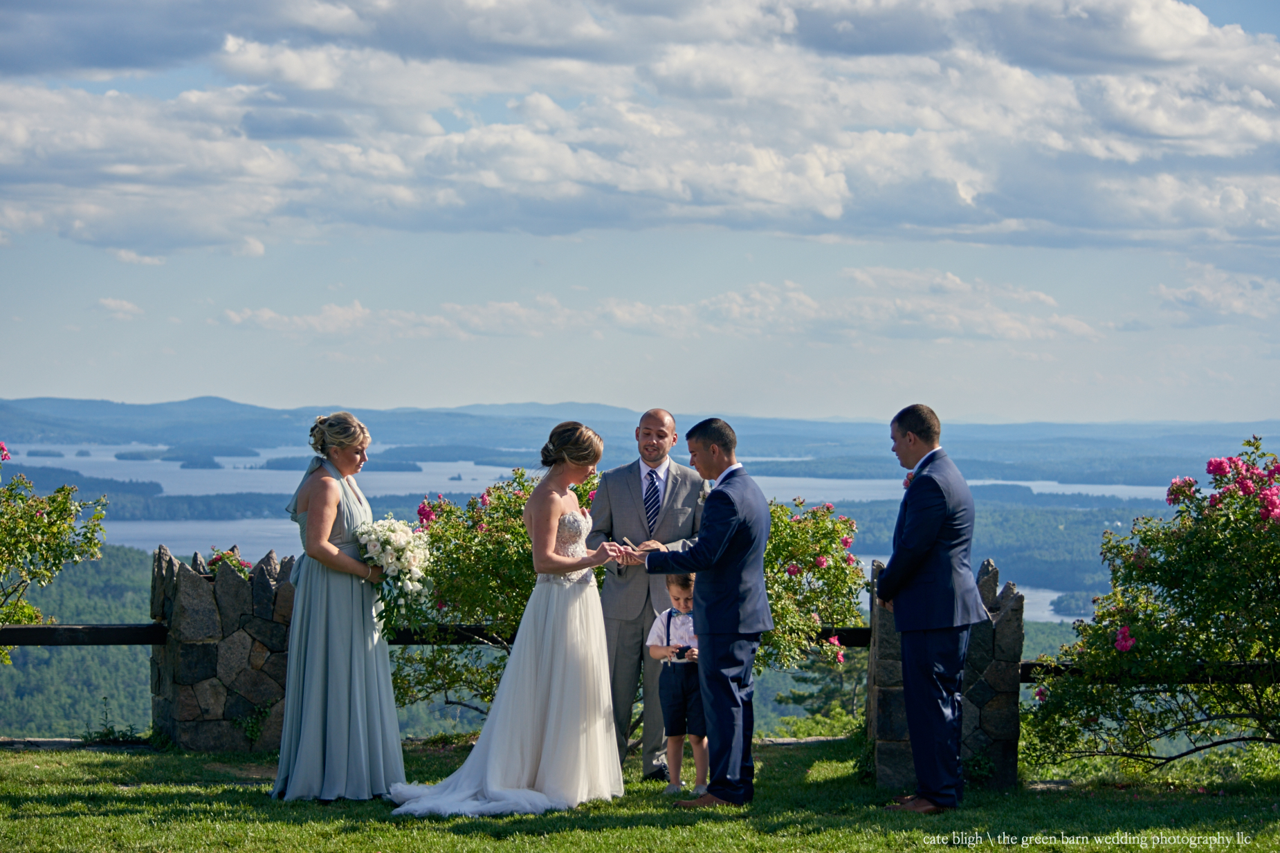Castle in the Clouds wedding ceremony outdoors