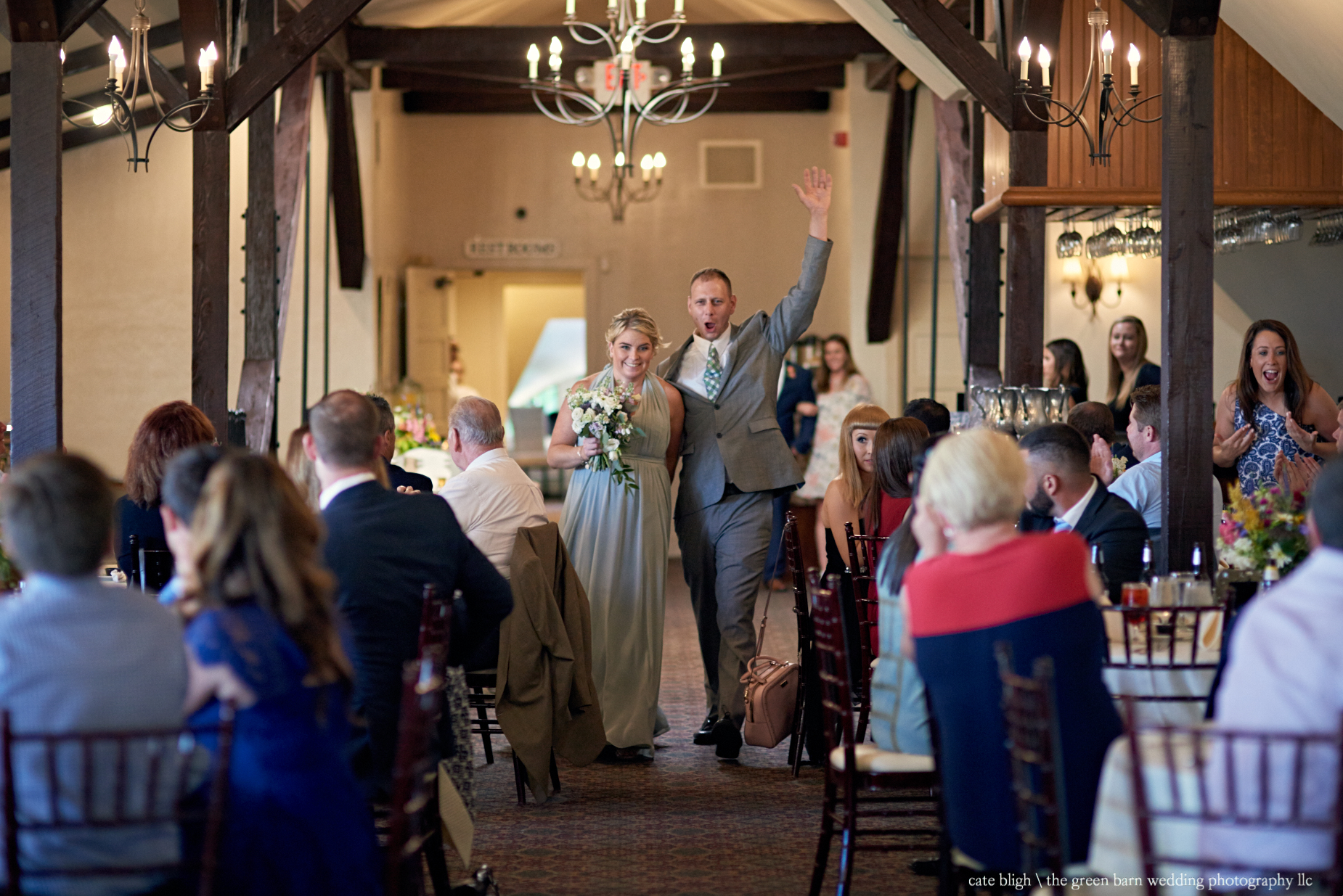 Bridal party introductions wedding reception at Castle in the Clouds