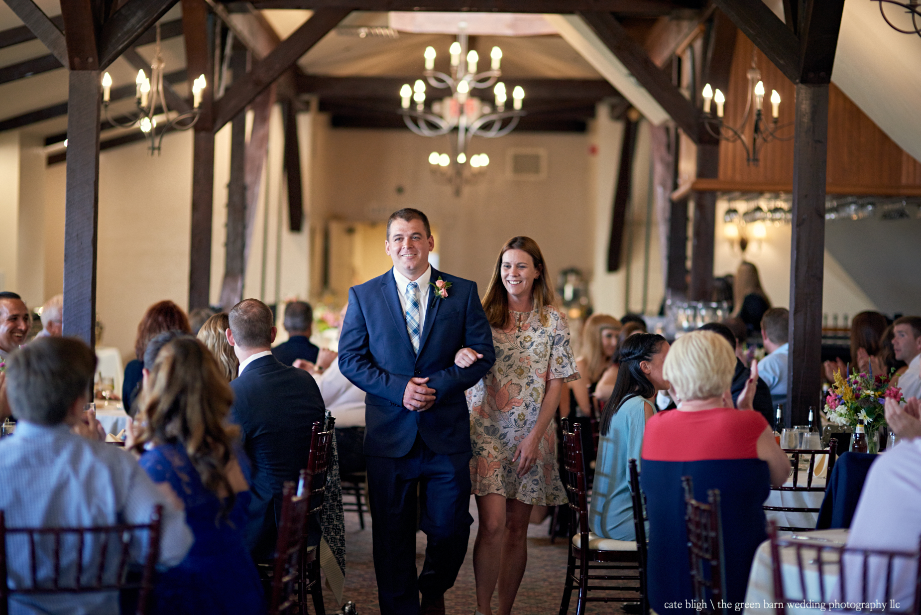 Wedding party introductions wedding reception at Castle in the Clouds NH