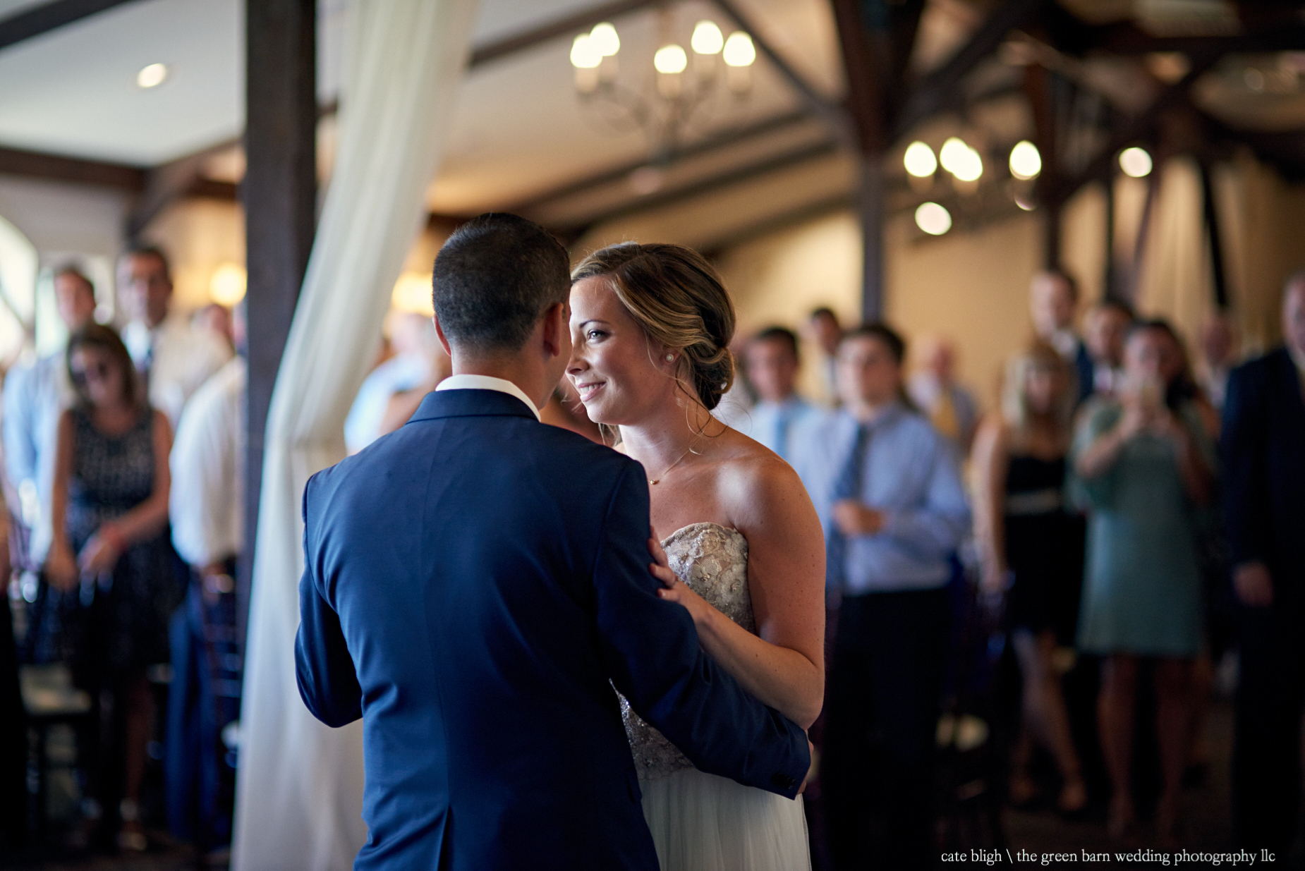 First dance bride and groom wedding reception at Castle in the Clouds NH