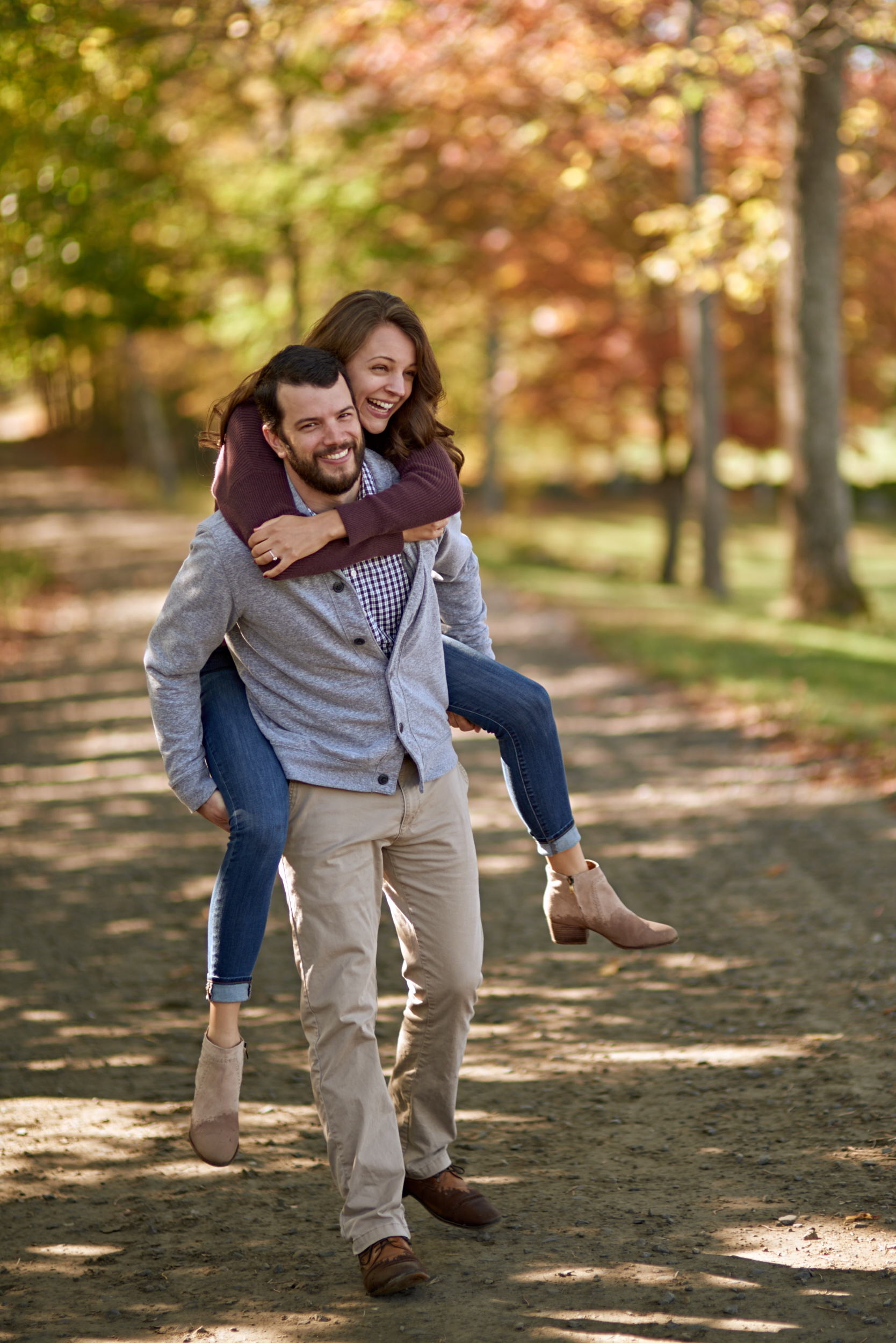Mariah and Jake's Fall engagement session photos in the Vermont countryside