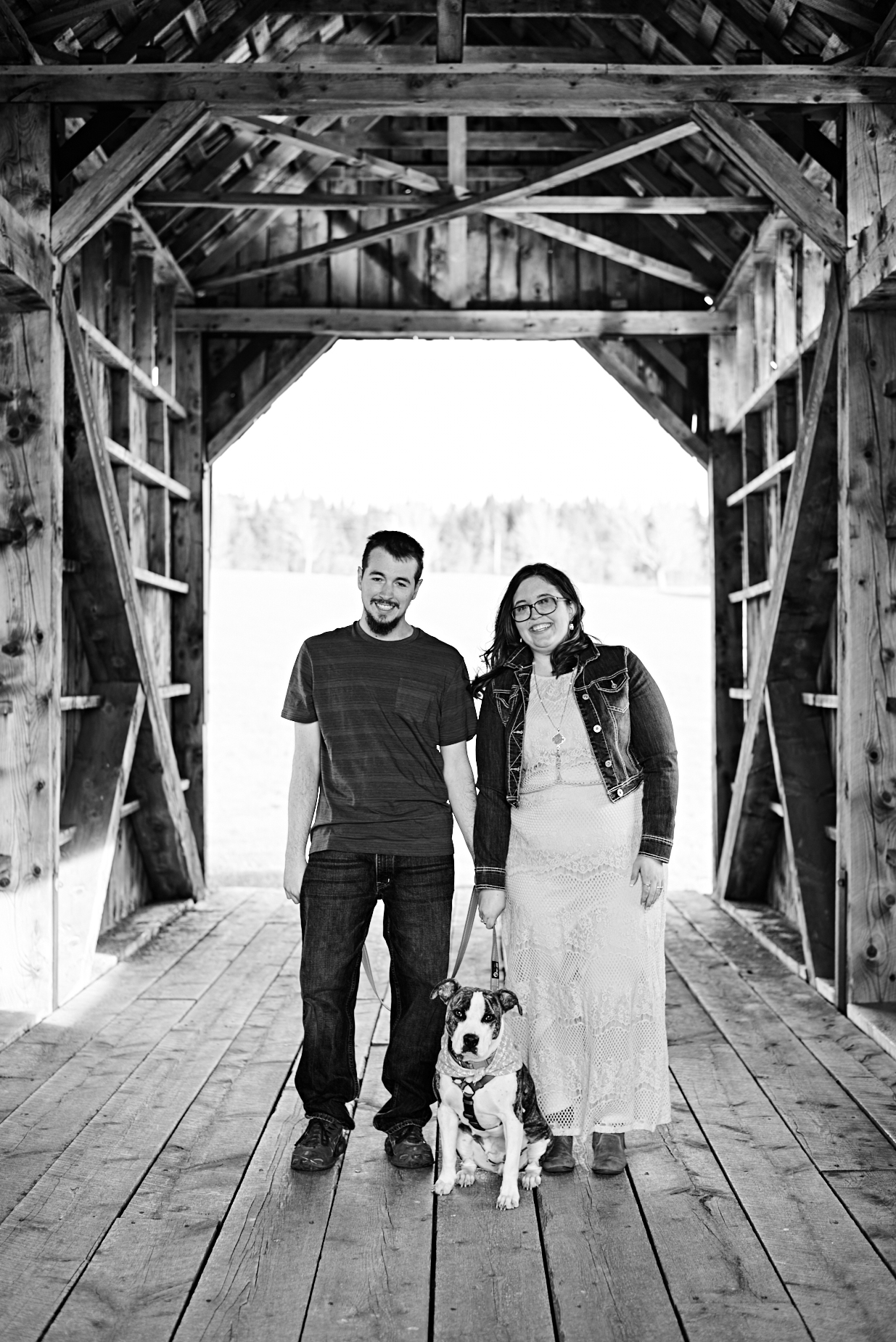 The Green Barn Wedding Photography LLC | New Hampshire and Vermont Engagement Photographer | Covered Bridge Engagement Session in Cabot, VT