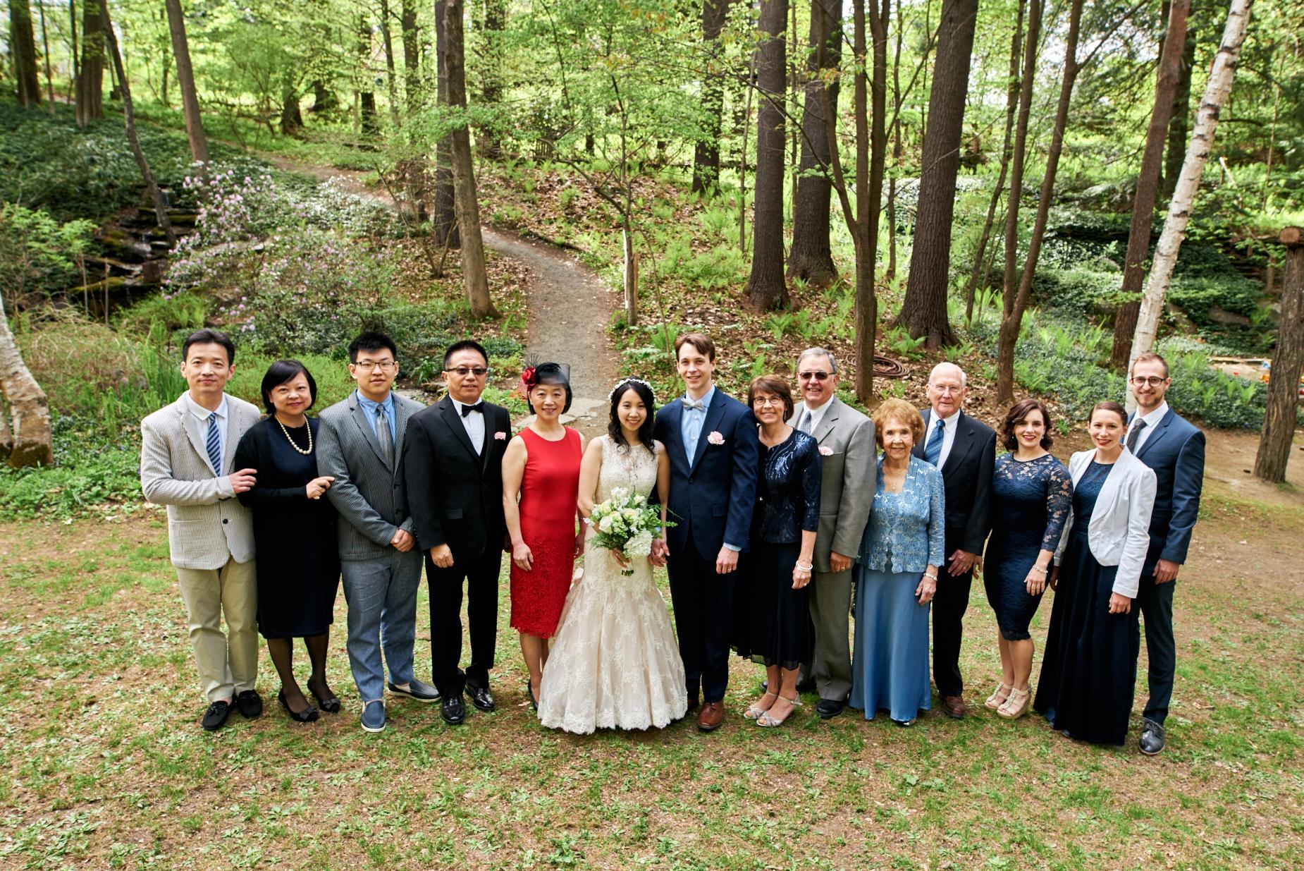 Angela and Josh's wedding at Nathan's Garden in Hanover, NH