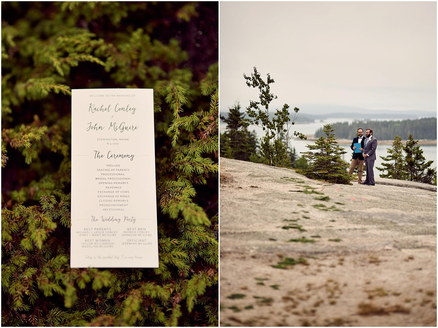Rachel and John's wedding in Stonington, Maine