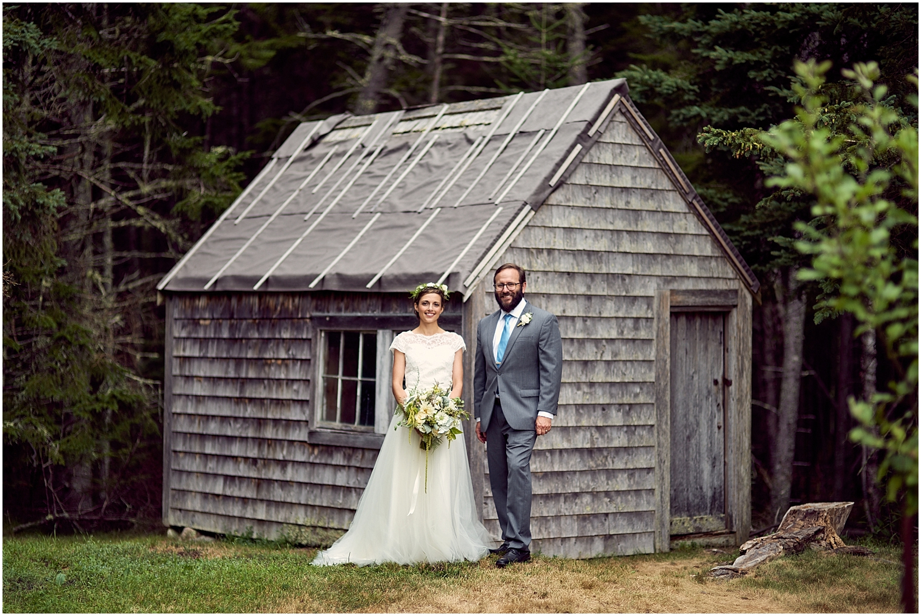 Rachel and John's wedding in Stonington, Maine