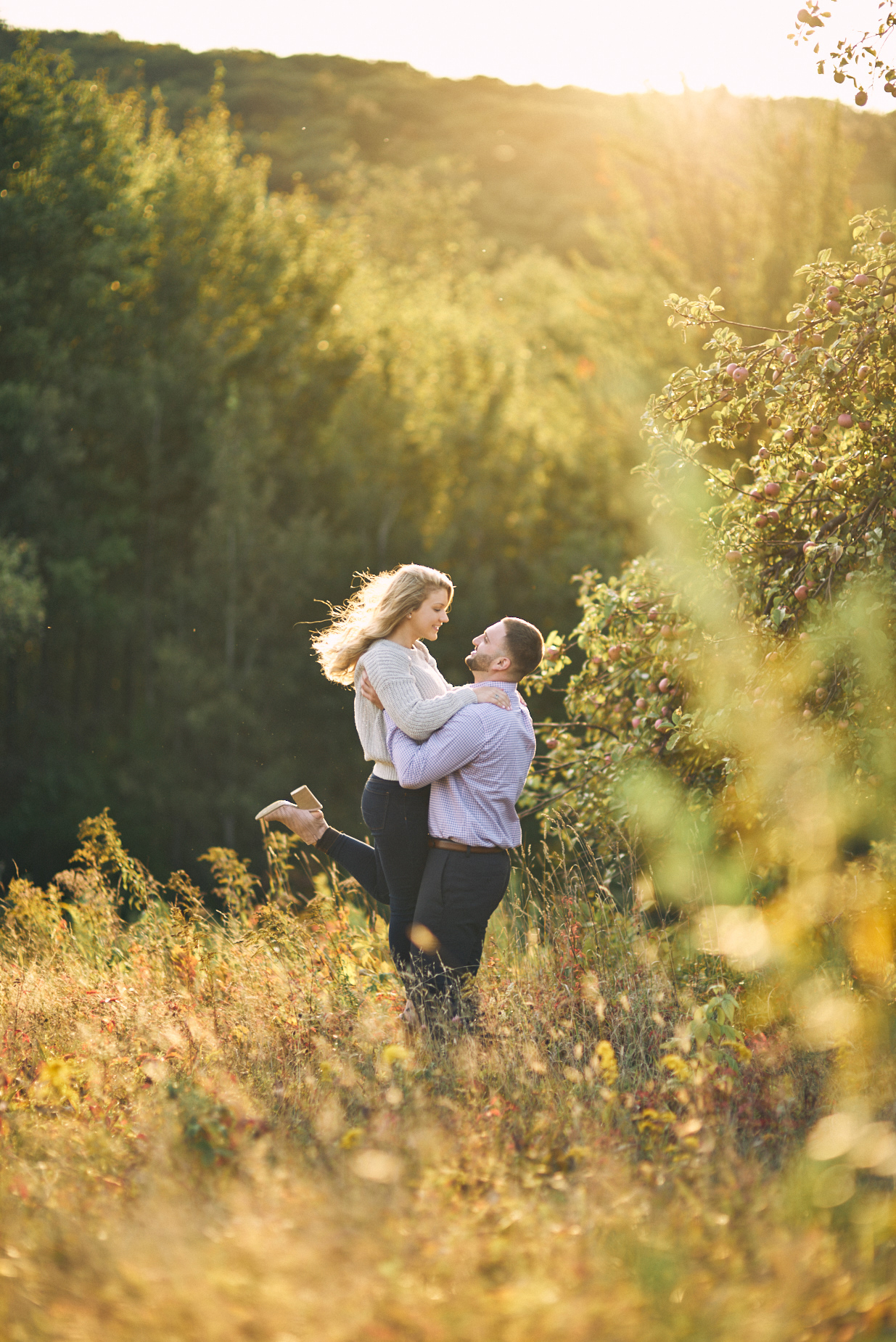 The Green Barn Wedding Photography LLC | New Hampshire Wedding and Engagement Photographer | outdoor engagement session on Lake Winnipesaukee