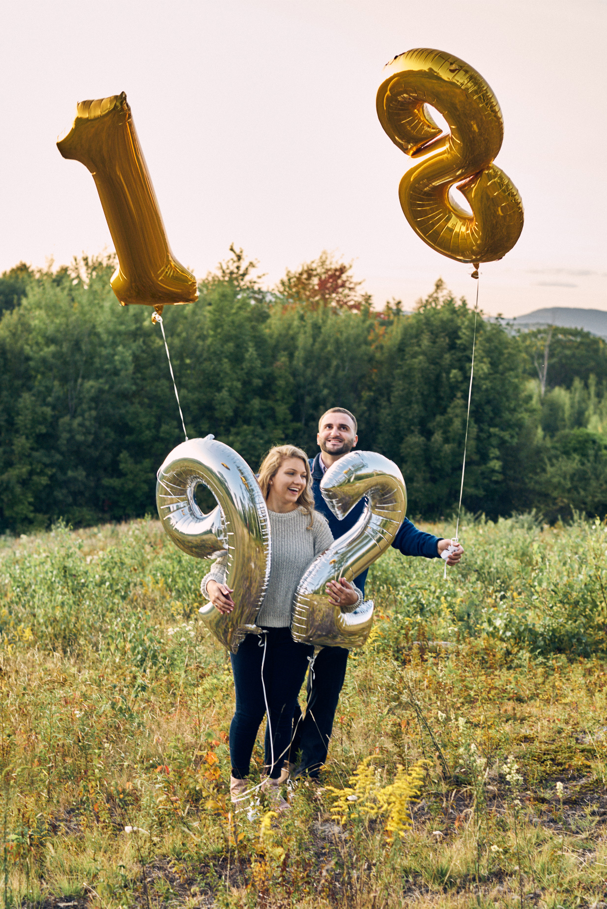 - These two had a great idea (directly from Pinterest!) and brought balloons with their wedding date to our engagement session! I absolutely fell in love with their plan but mother nature had another idea for us. The wind prevented us from getting the 'perfect' shot but we sure did have fun trying!
