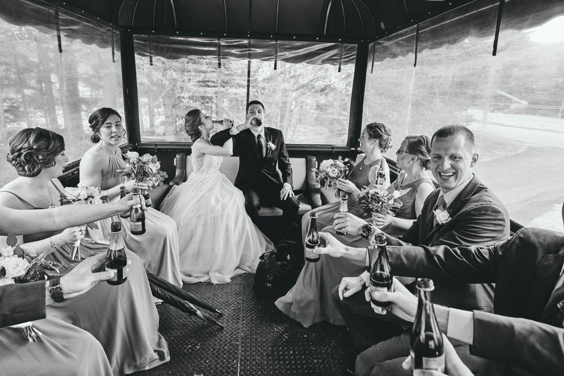 Photography by Cate Bligh - Rainy Day Wedding in The White Mountain National Forest in Waterville Valley, NH