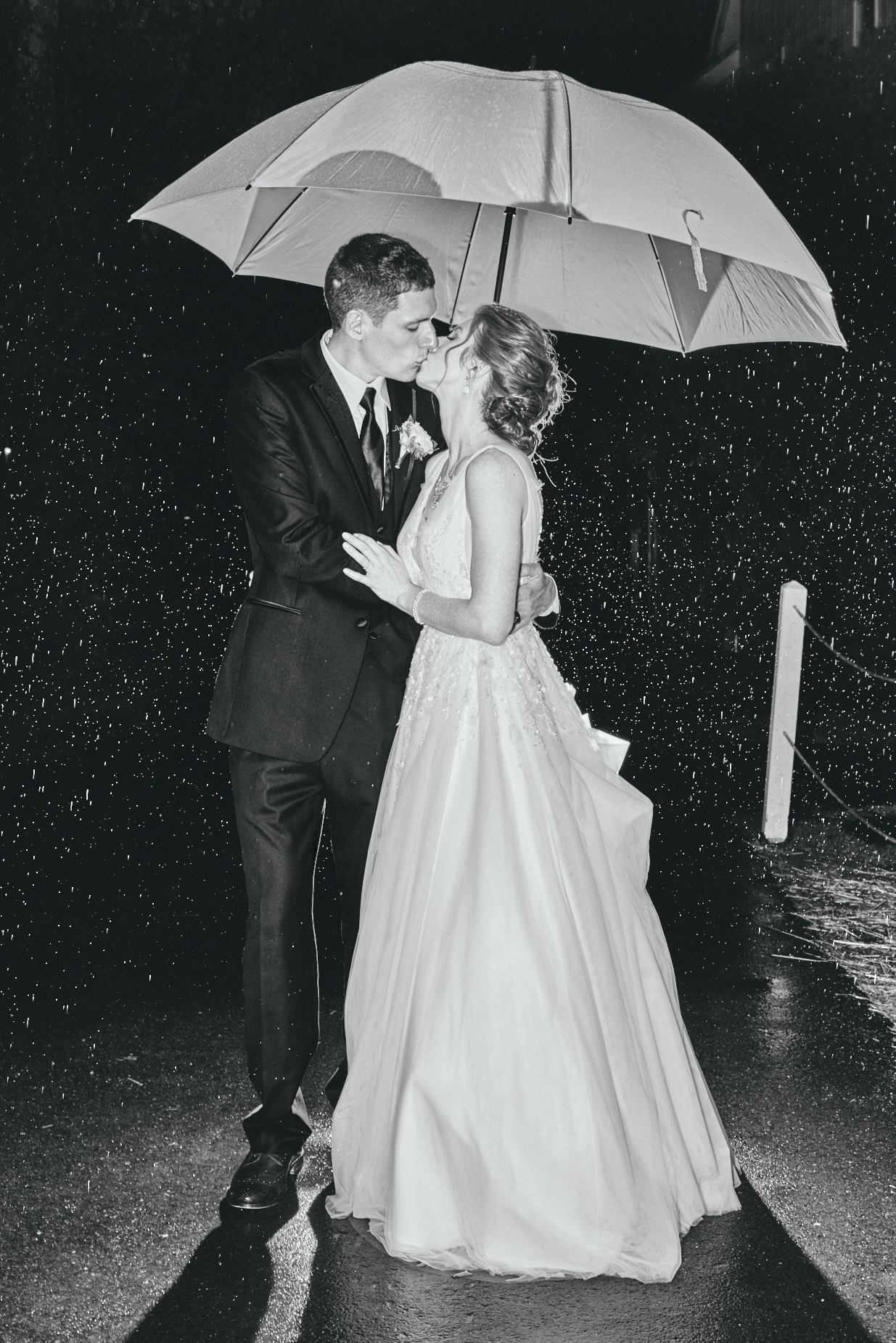 Wedding photography by Cate Bligh | Rainy day wedding in The White Mountain National Forest at Waterville Valley Resort in New Hampshire.
