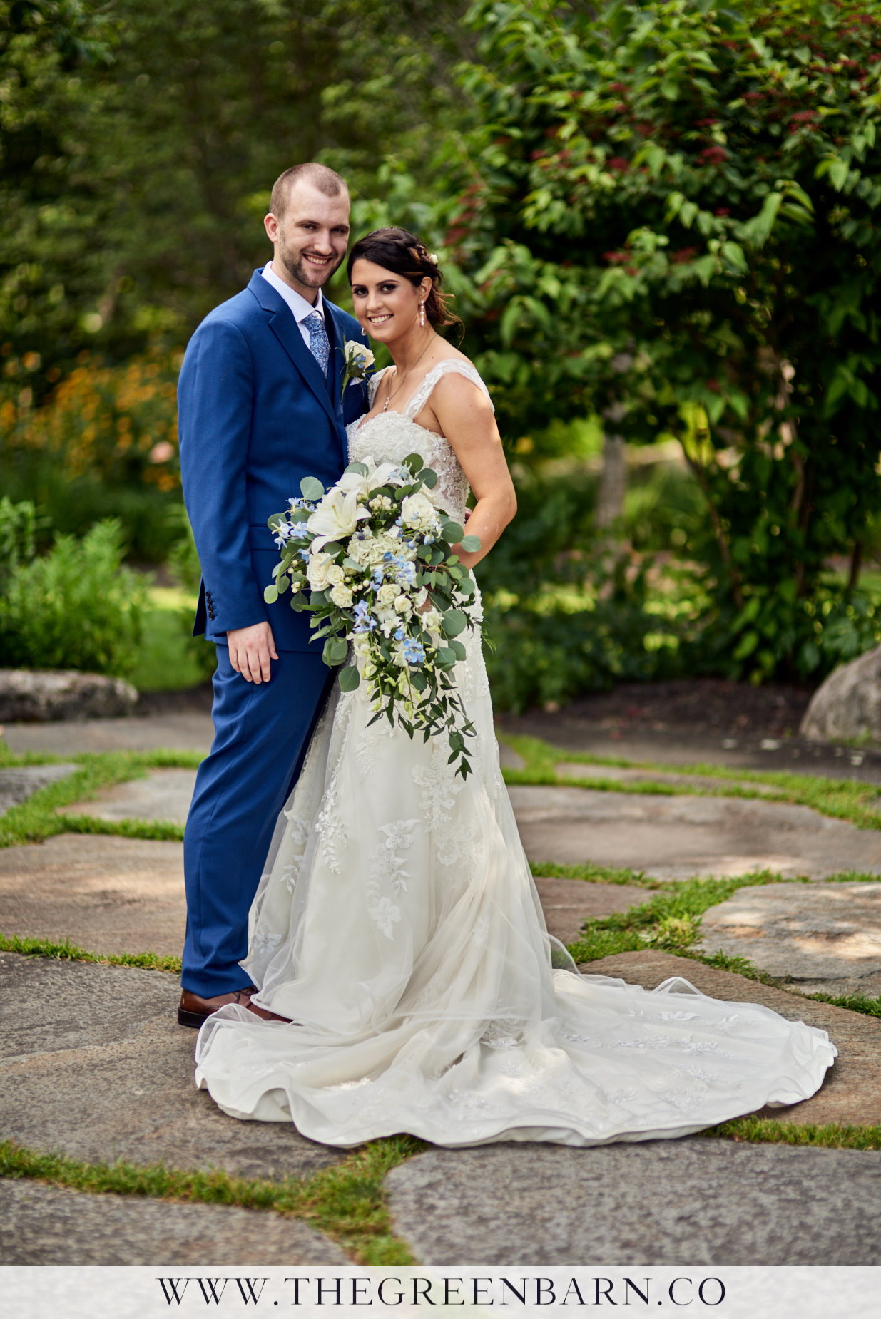 Bride and Groom Portrait at Harrington Farm Photo by Cate Bligh of The Green Barn Wedding Photography LLC