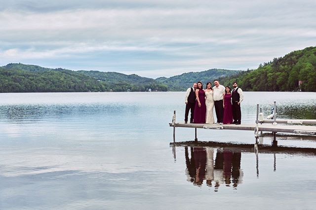 #weddingphotographer : Amazing view of Lake Morey in Fairlee, VT with Jackie & Ricky at their wedding last summer @lakemoreyresort ... One of the most beautiful locations!