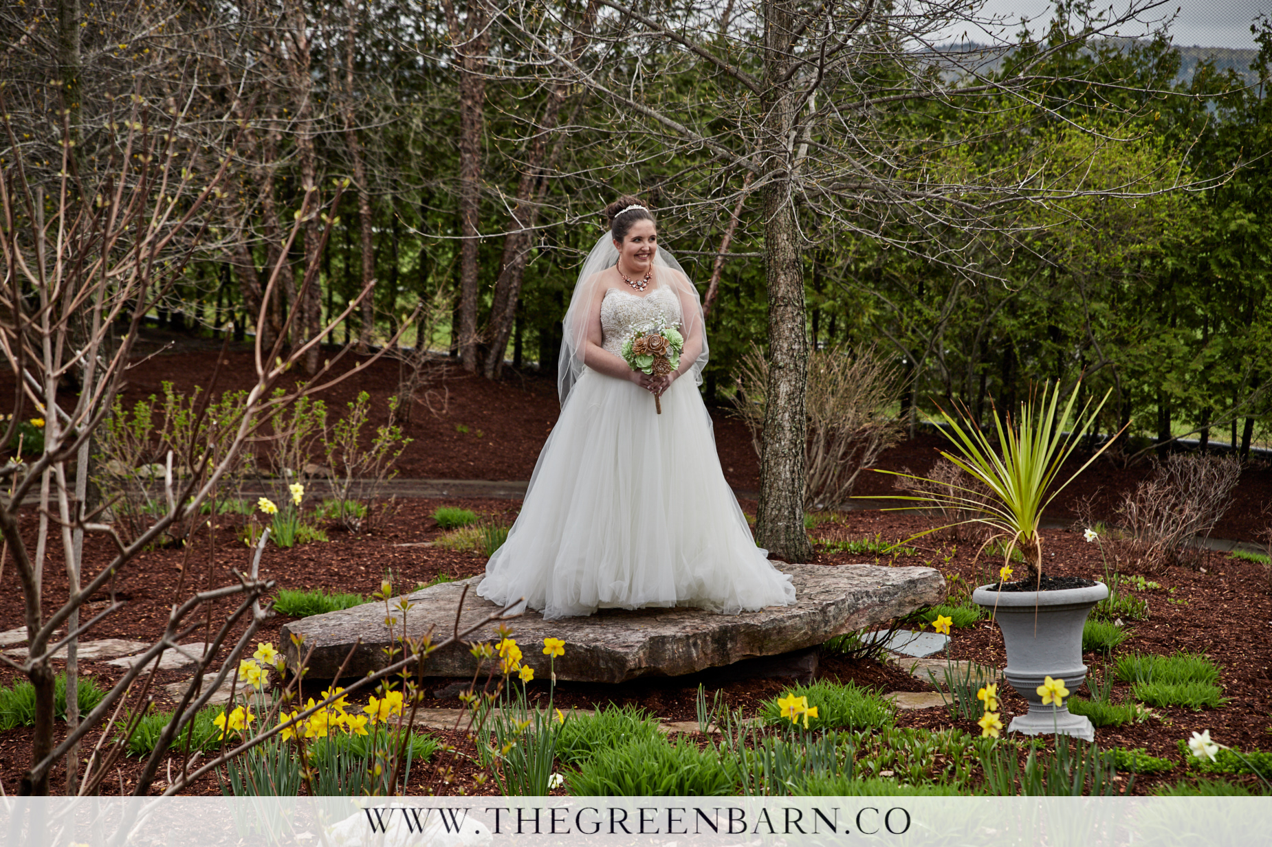Bride Portrait in the Garden at Catamount Country Club May Wedding