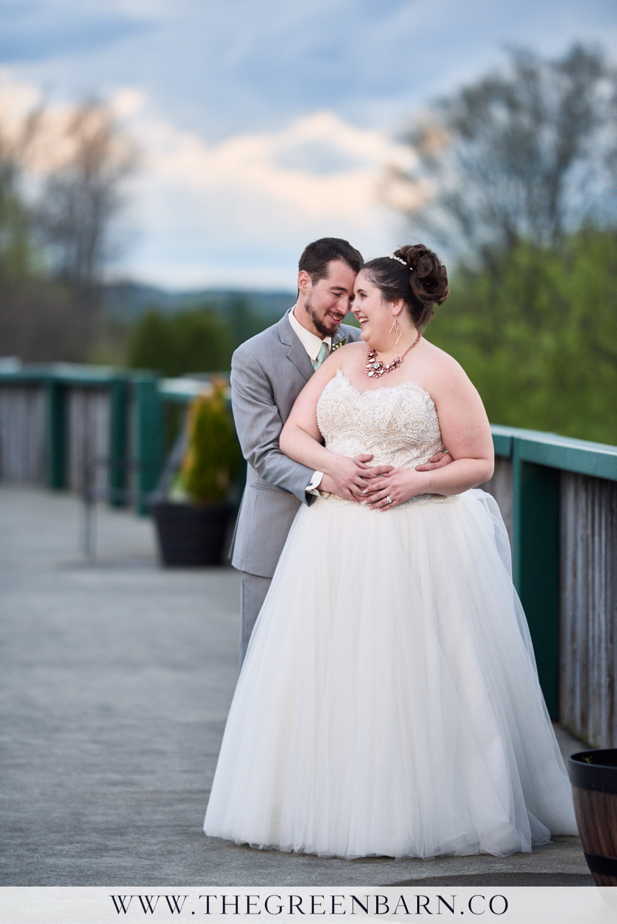 Bride and Groom Sunset Photo at Catamount Country Club near Burlington, VT