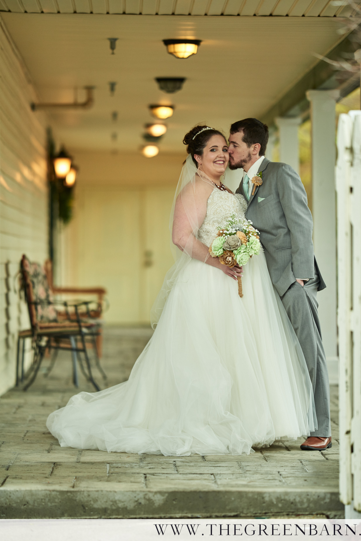 Bride and Groom Portrait at a Spring Vermont Wedding near Burlington Photo by Cate Bligh
