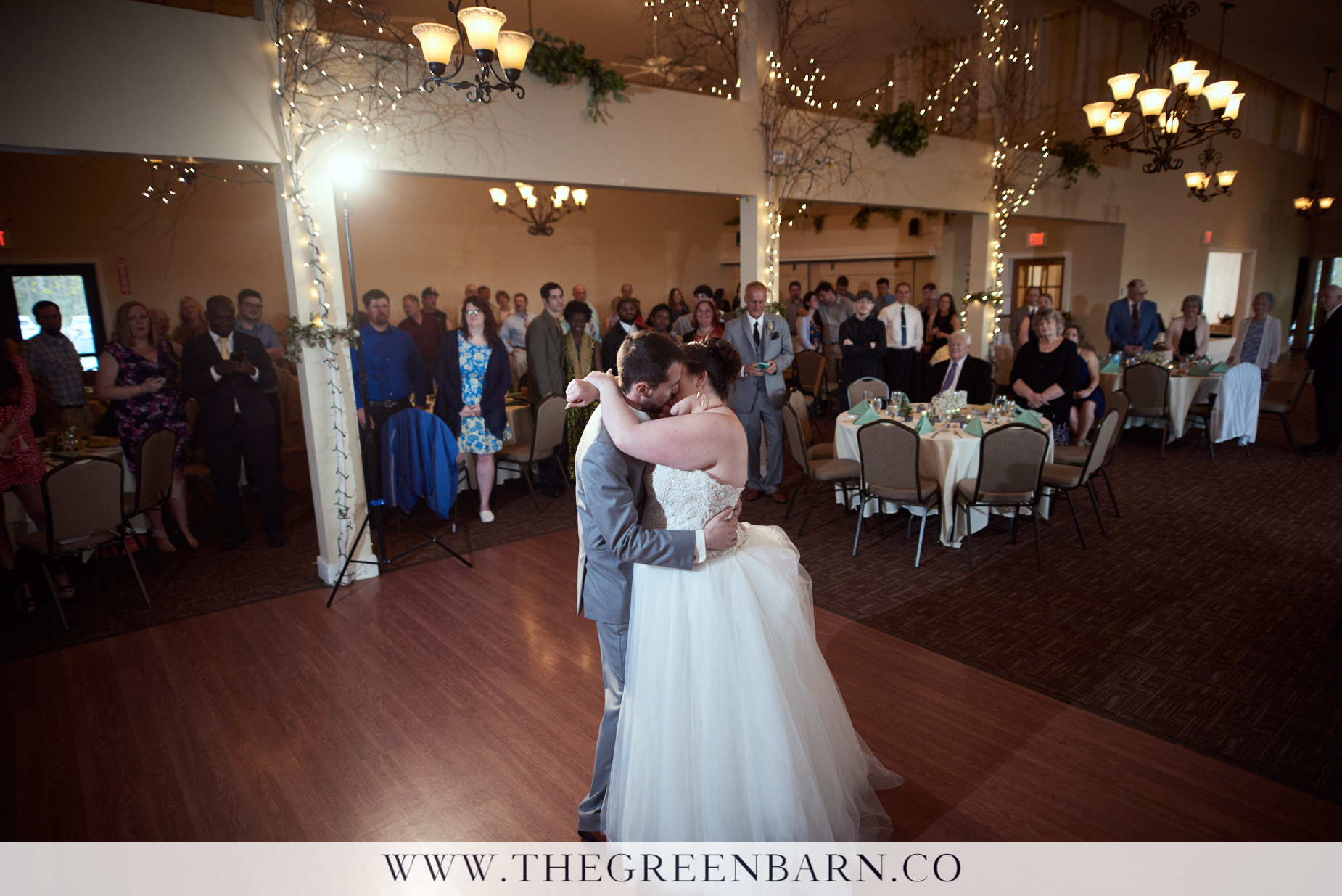 Bride and Groom First Dance at Catamount Country Club a Wedding Venue near Burlington, VT