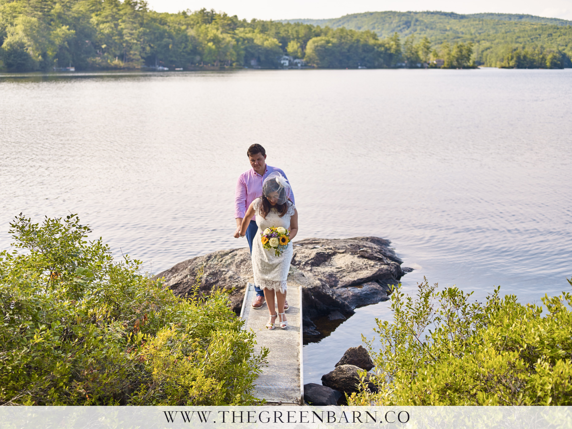 Non-Traditional Wedding Photos Bride and Groom Lake Wedding | NH Wedding Photographer