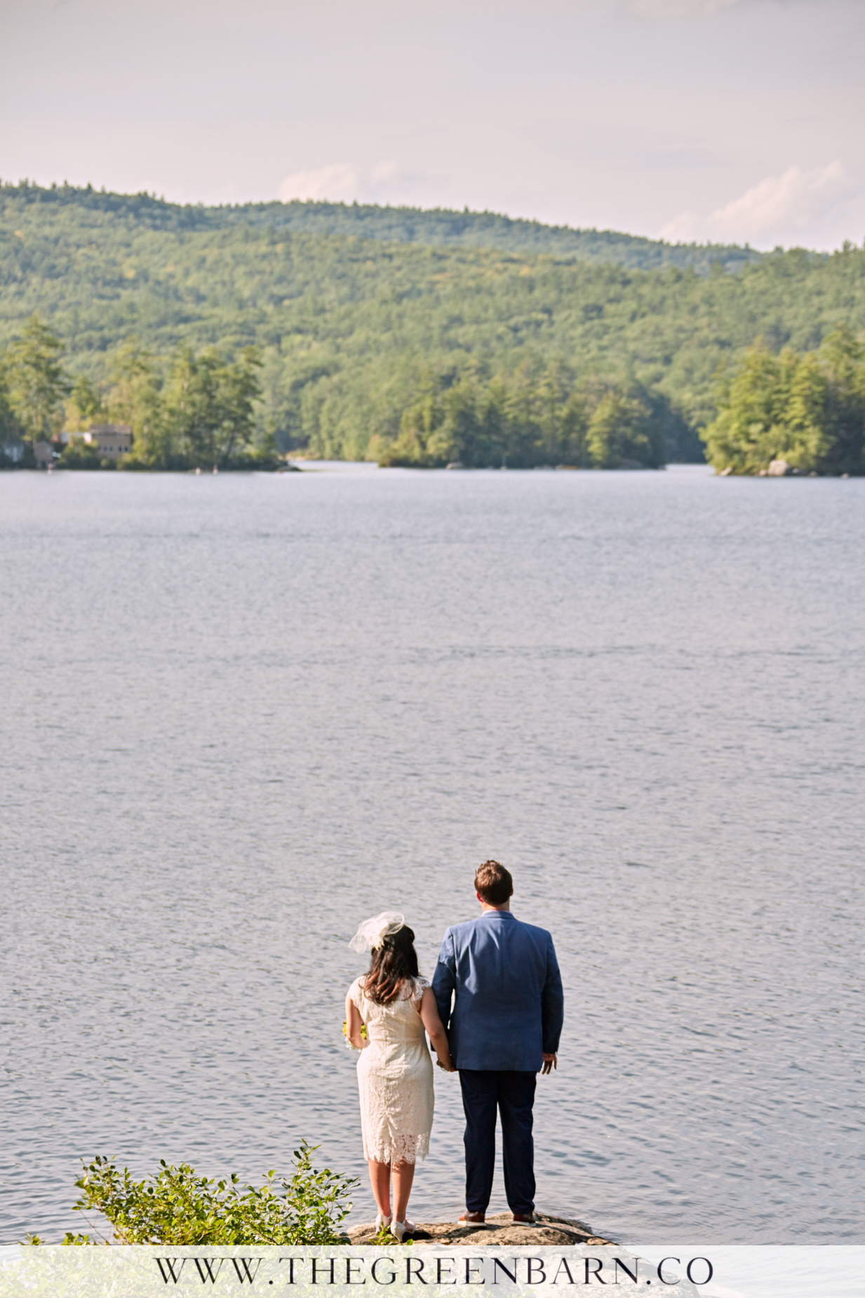 Bride and Groom Photo at Lake Winona Non-traditional Wedding | NH Wedding Photographer