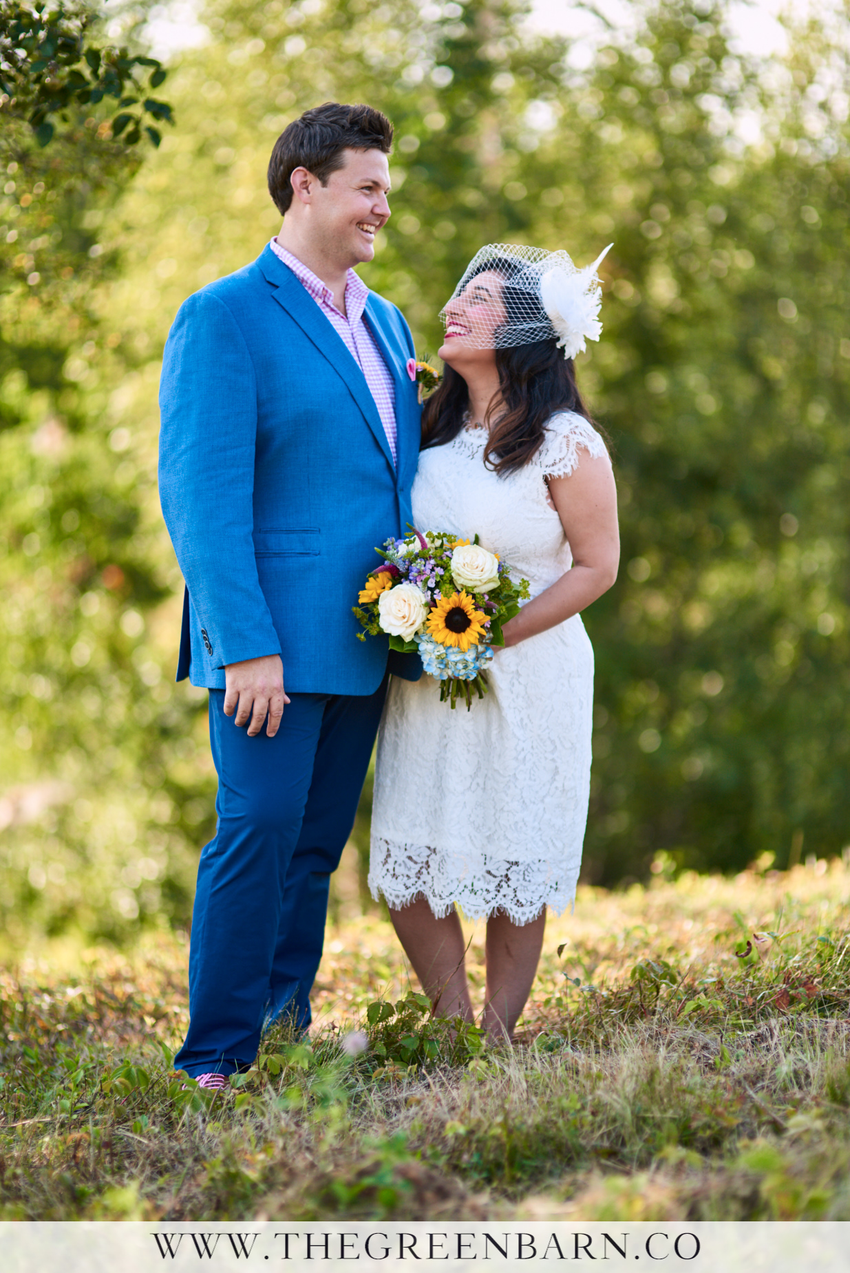 Bride and Groom Laughing Photo Non-Traditional Wedding | NH Wedding Photographer