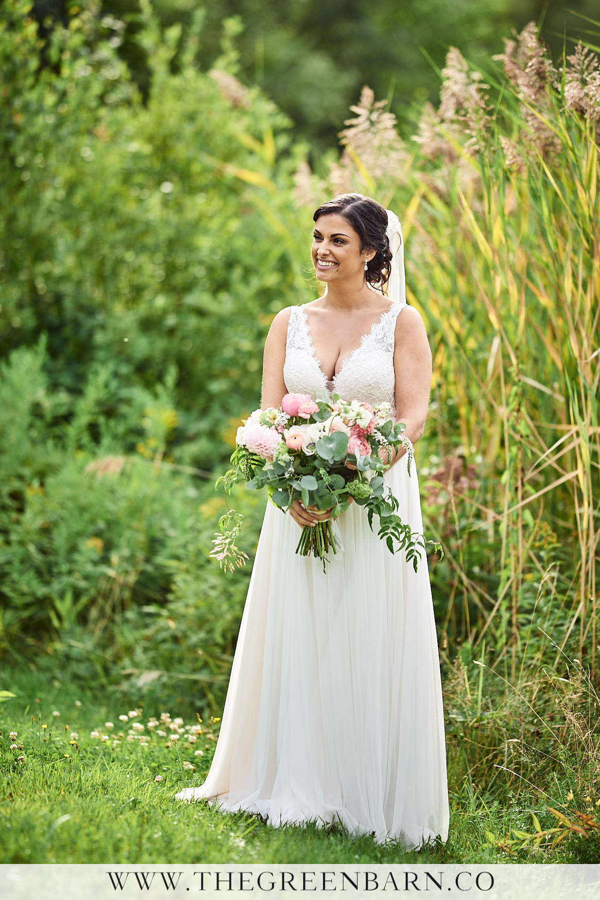 Bride with Bouquet Photo at Osceola Arbor in Waterville Valley | NH Wedding Photographer