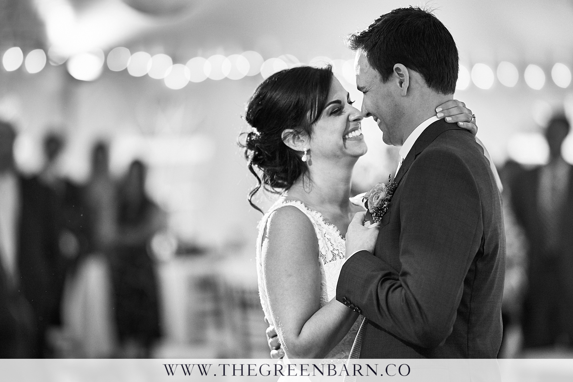Bride and Groom First Dance Photo at Waterville Valley Tent Reception | NH Wedding Photographer