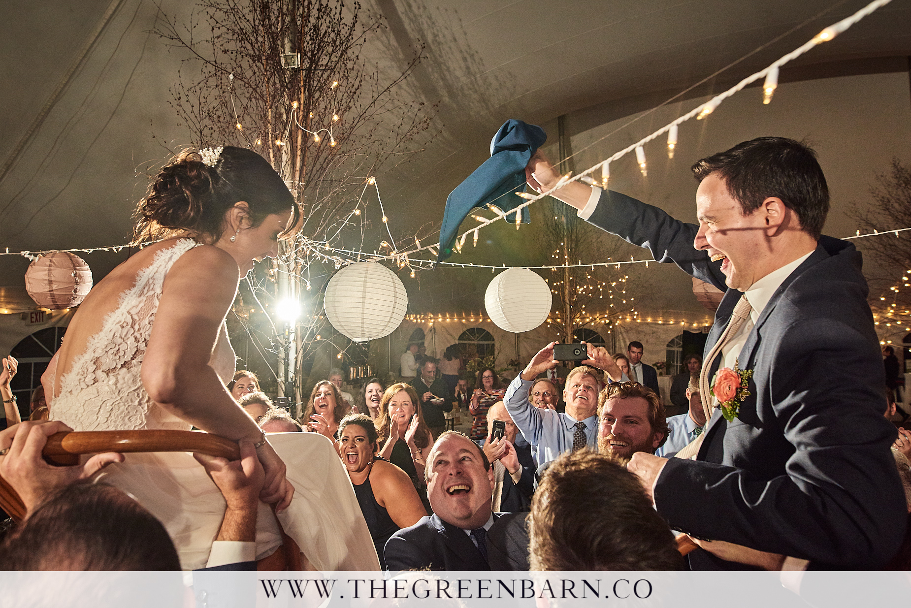 Bride and Groom Hora at Waterville Valley Tent Wedding | NH Wedding Photographer