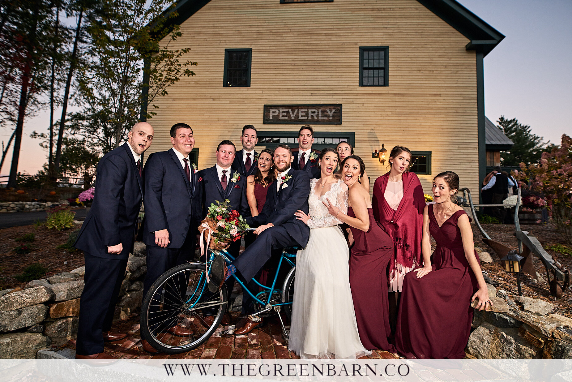 Bridal Party Fun Photo at The Barn on the Pemi