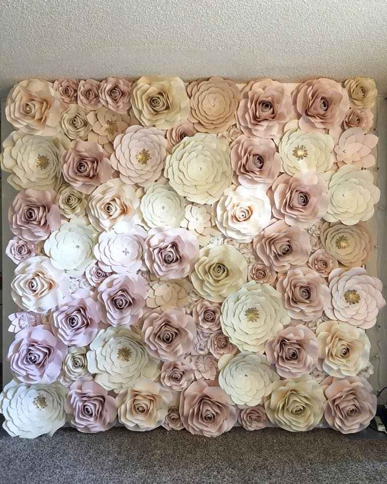 Full Paper Flower Wall