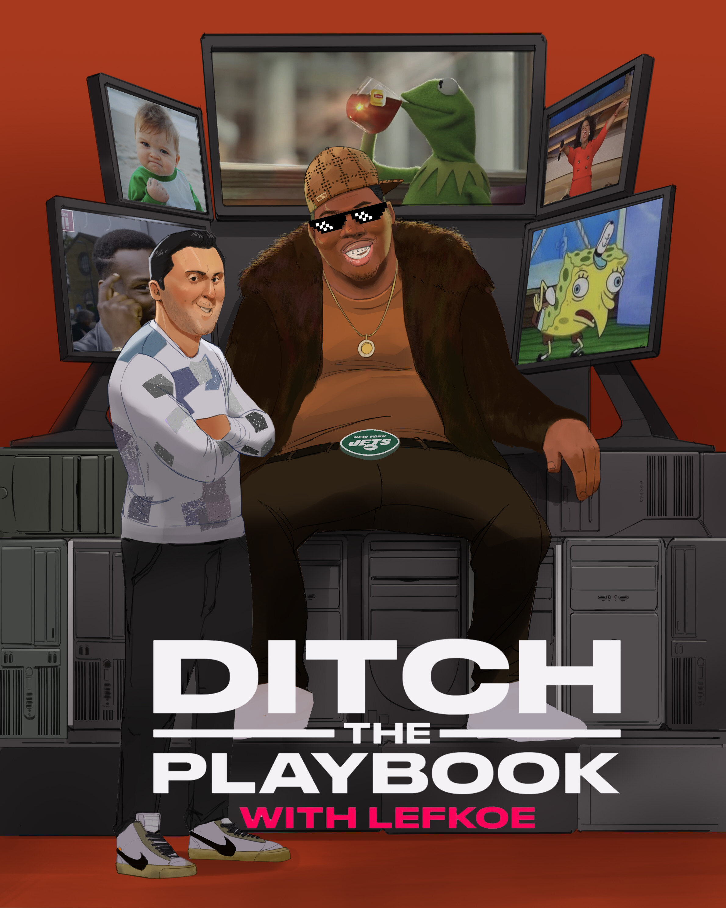 """""""Ditch the Playbook"""" episode with New York Jets Defensive End, Quinnen Williams."""