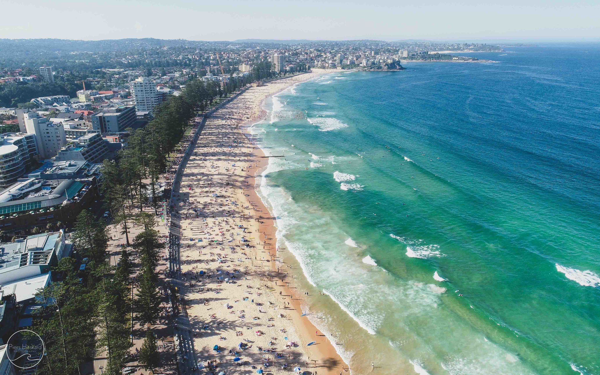 Manly Beach. What a sight. Locals and tourists alike flock to one of Sydney's most popular beaches.
