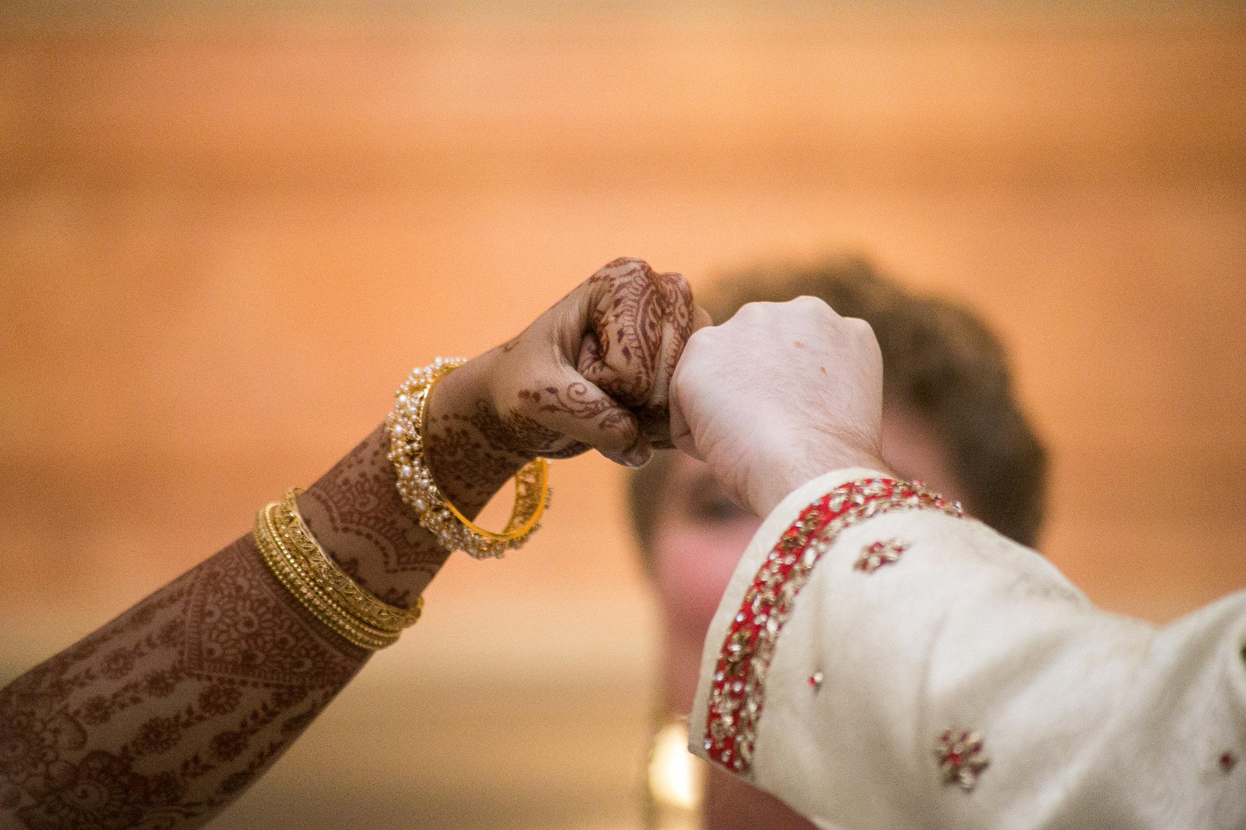 fist bump wedding