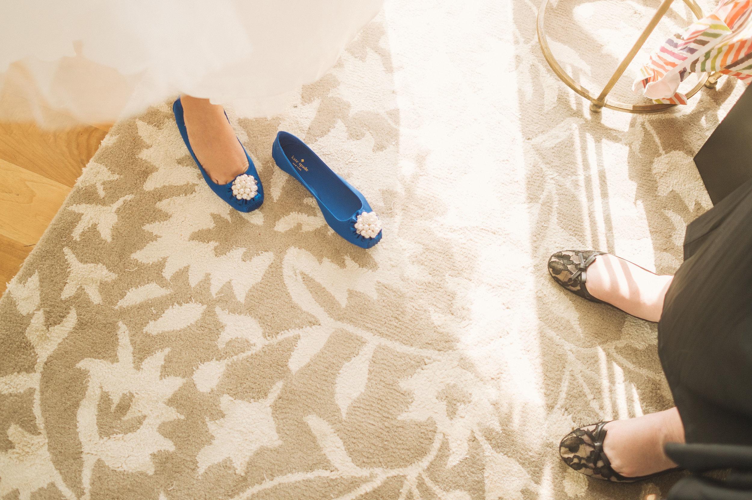 Blue Flats Wedding Shoes