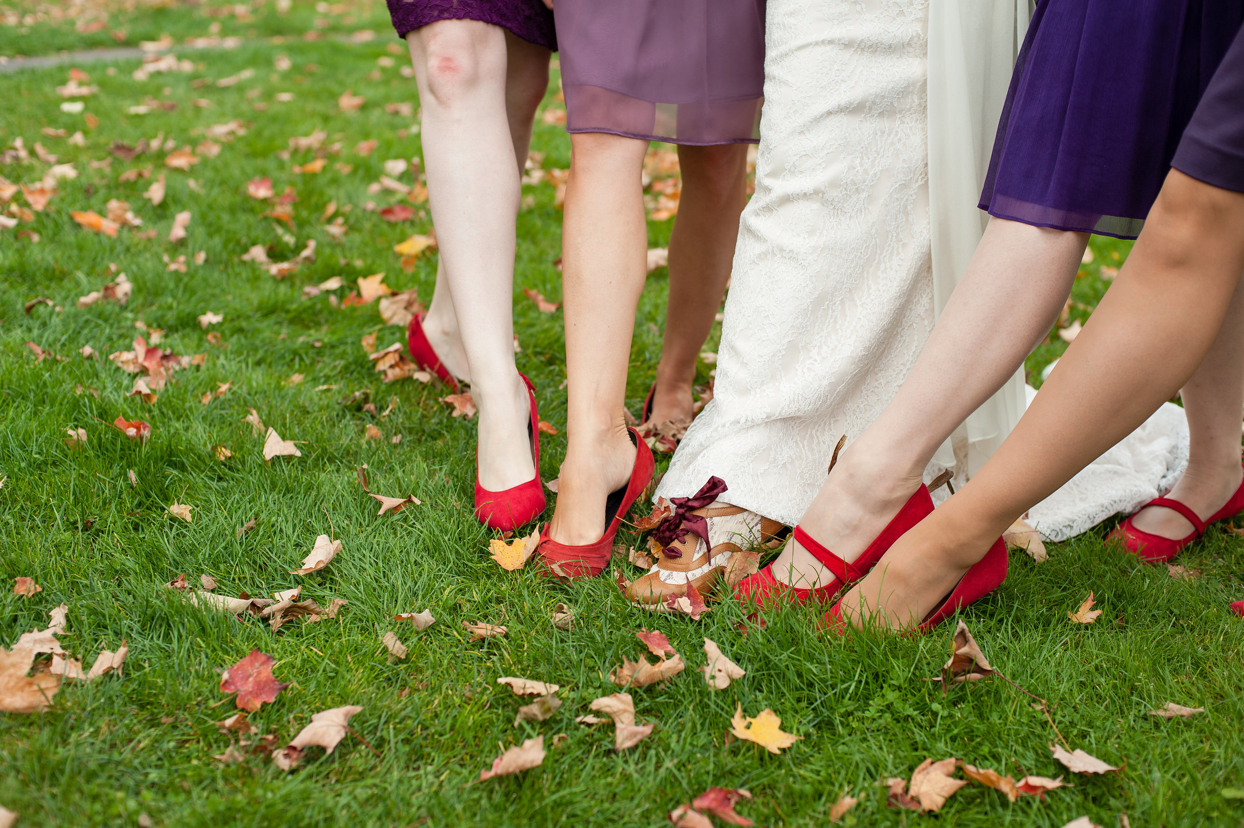red flat wedding shoes