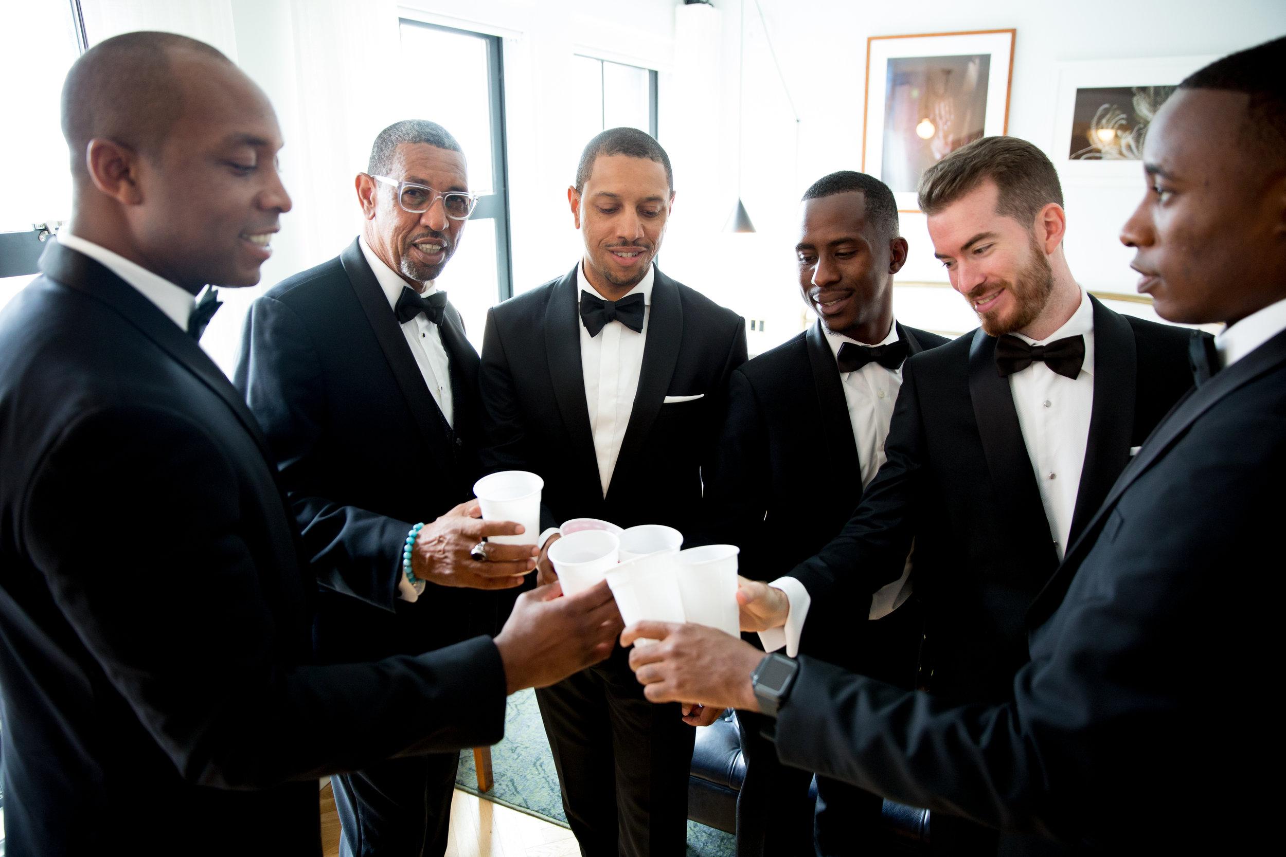 The Line Hotel DC Wedding groomsmen