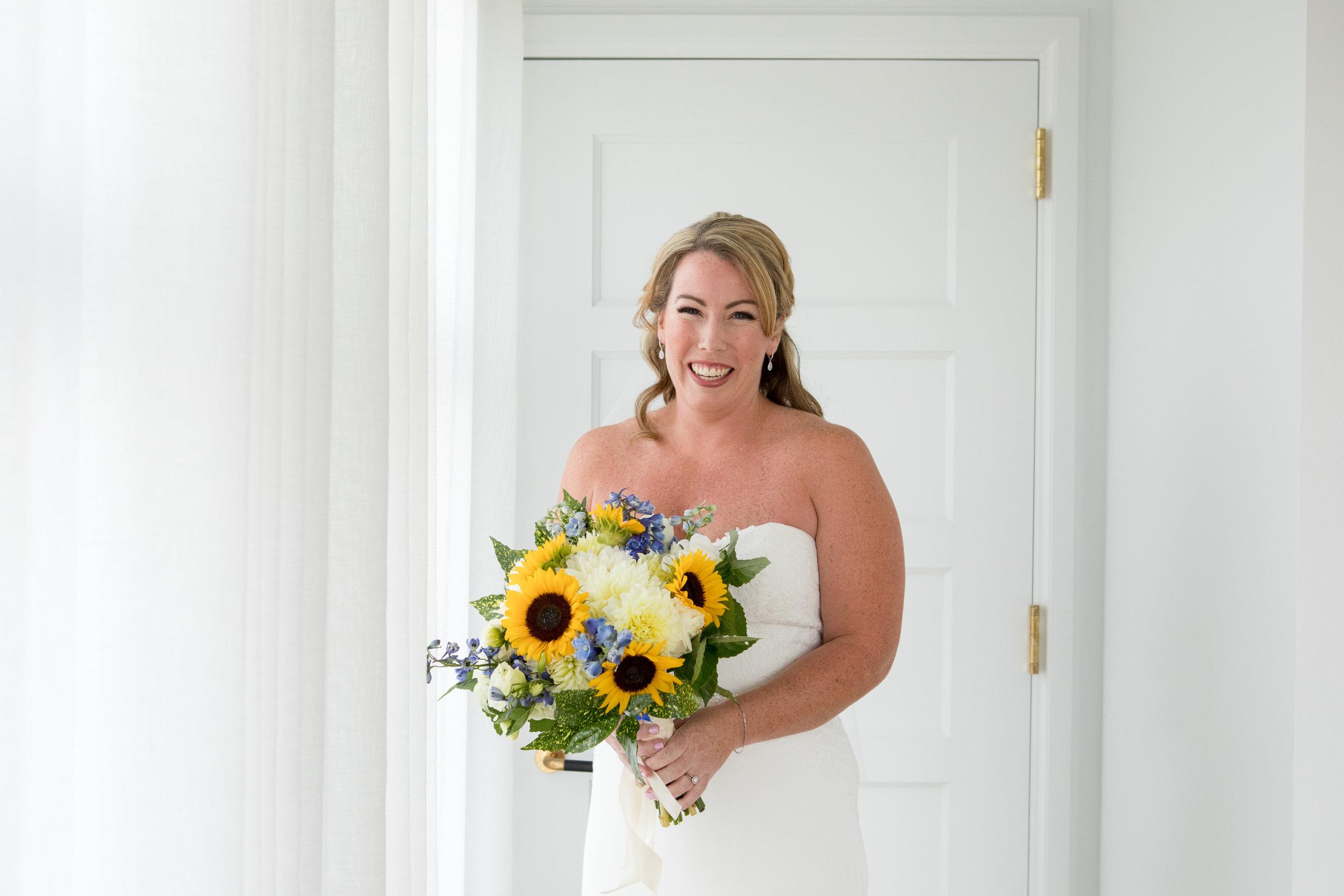 The Line Hotel DC Wedding sunflower bouquet