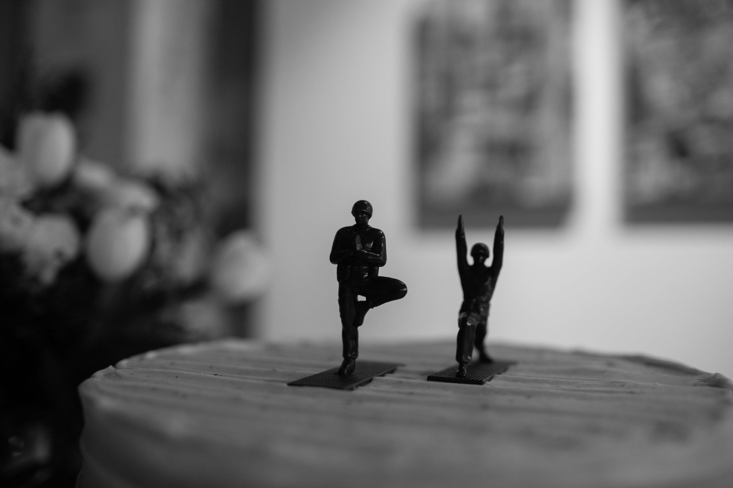 yoga cake topper