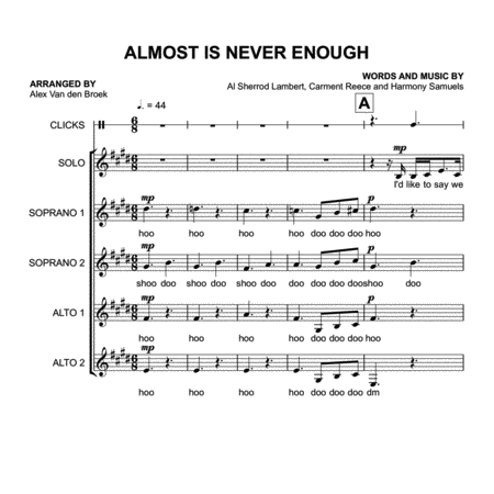 Almost Is Never Enough (Ariana Grande) SSAA