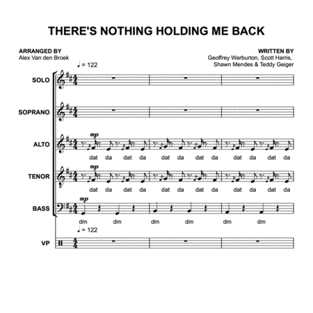 There's Nothing Holding Me Back (Shawn Mendes) SATB with Vocal Percussion