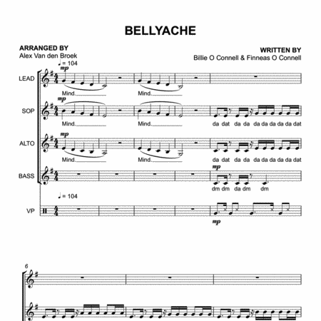 Bellyache (Billie Eilish) SSAA with Vocal Percussion