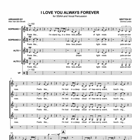 I Love You Always Forever (Donna Lewis) SSAA