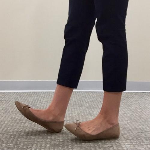 chiropractic foot drills heel walk