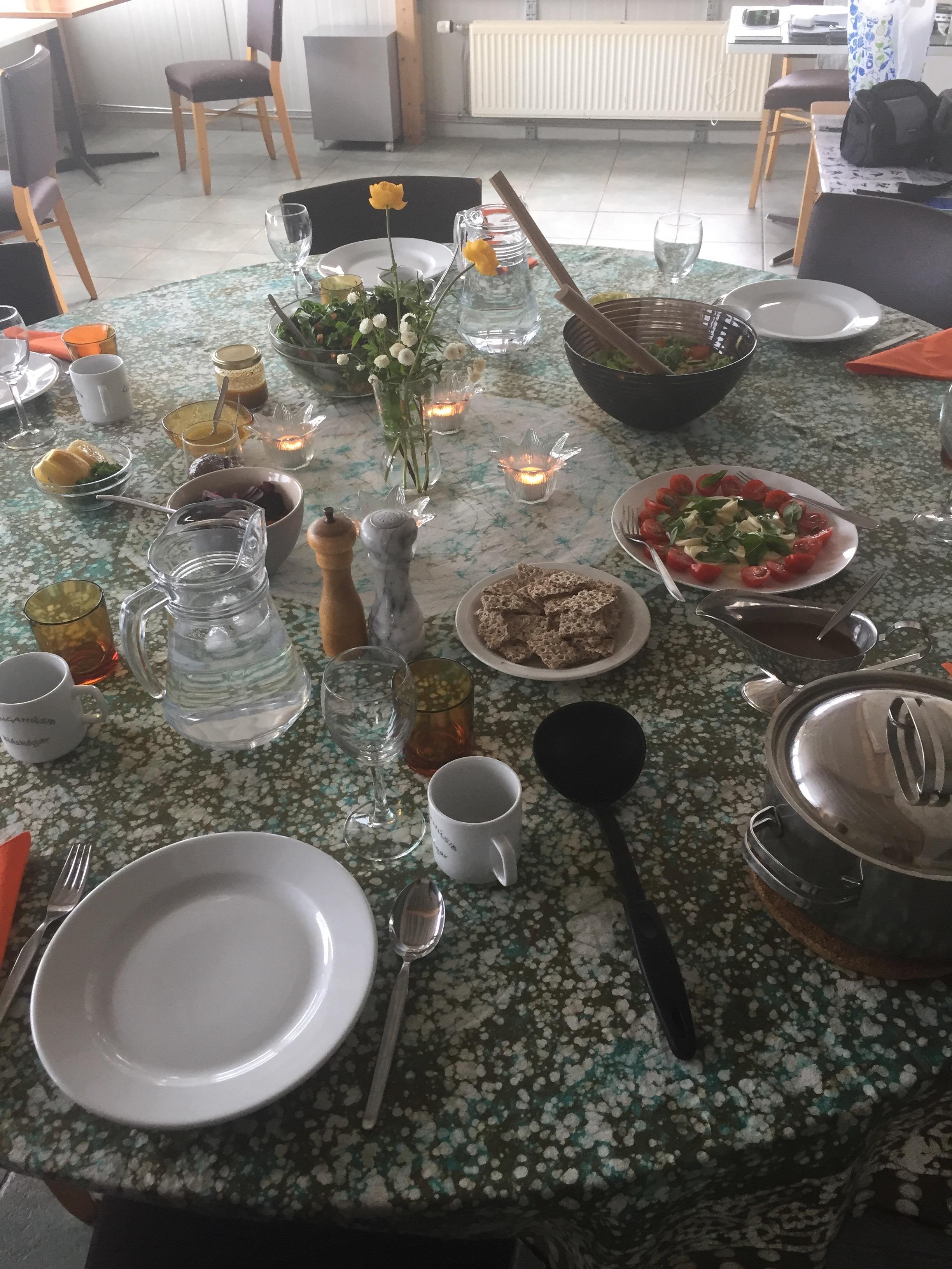 Farewell dinner at studio Gullkistan