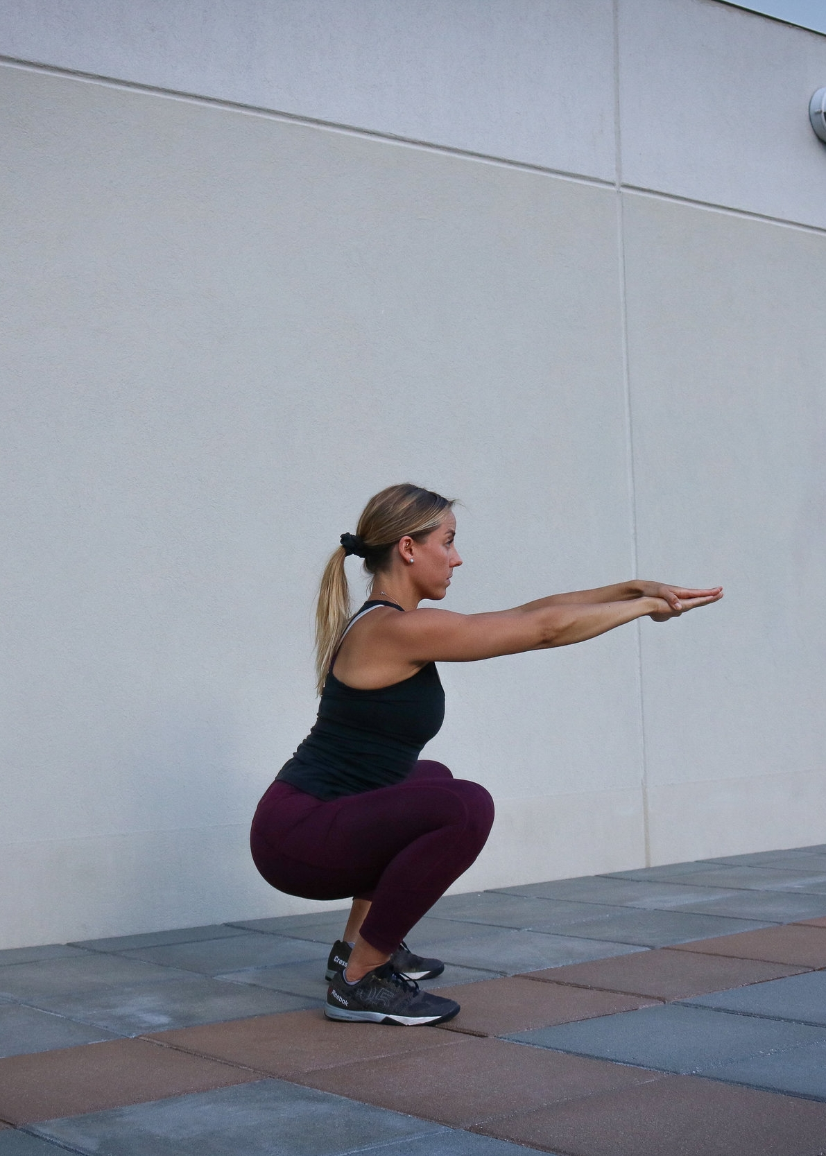 Bottom position of the squat