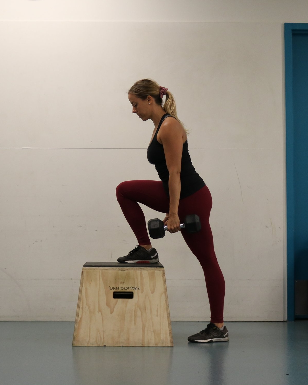 Start position of the step-up